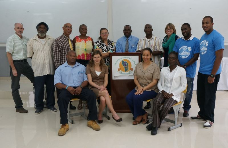 An image of several members of Dominica State University.