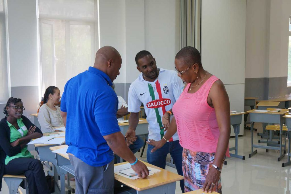 An image of a classroom in the Caribbean.
