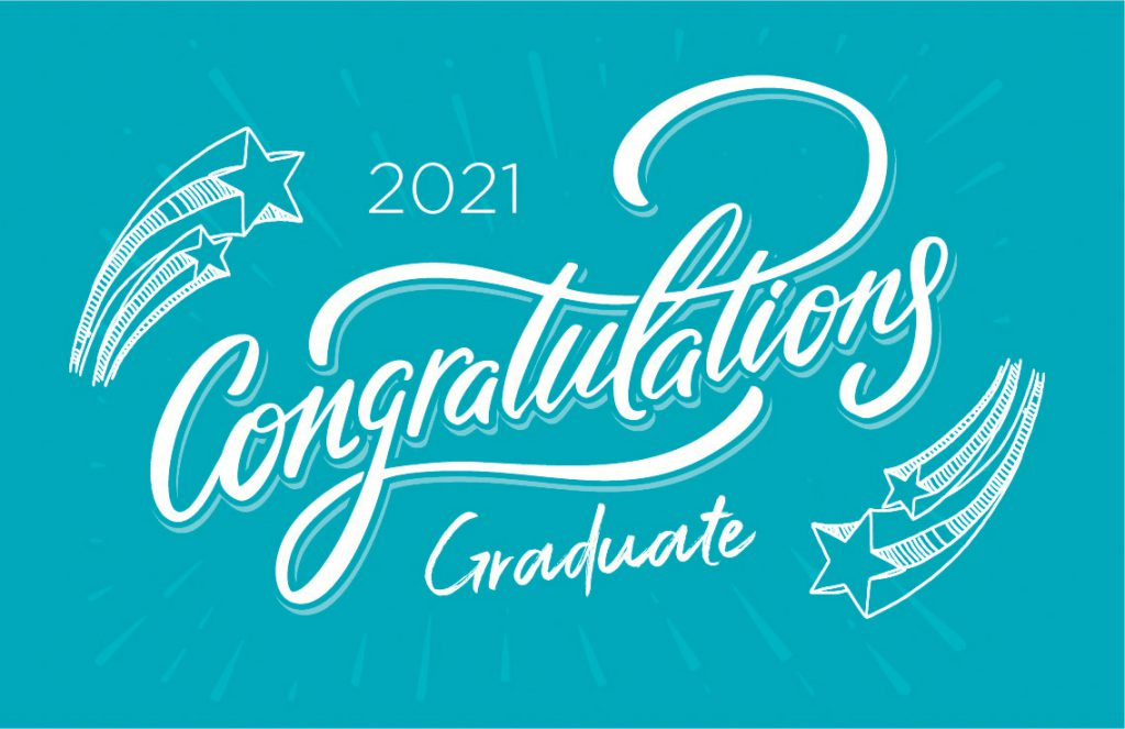 An image that states Congratulations Graduate.