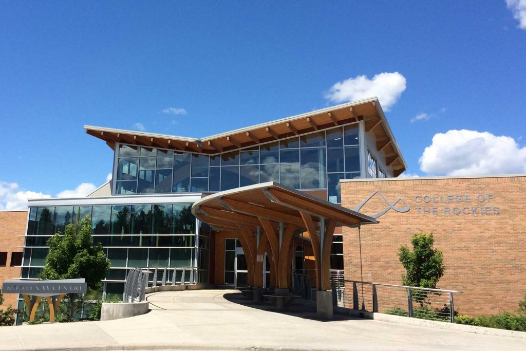 An image of the exterior of the College of the Rockies.