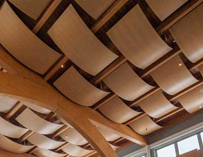 An image of the ceiling inside Registration Services
